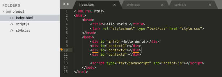 HTML, CSS, & JavaScript – Getting Started
